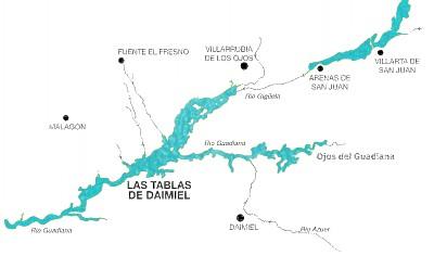 Tablas De Daimiel Mapa.Hidrologia Parque Nacional Tablas De Daimiel Informacion