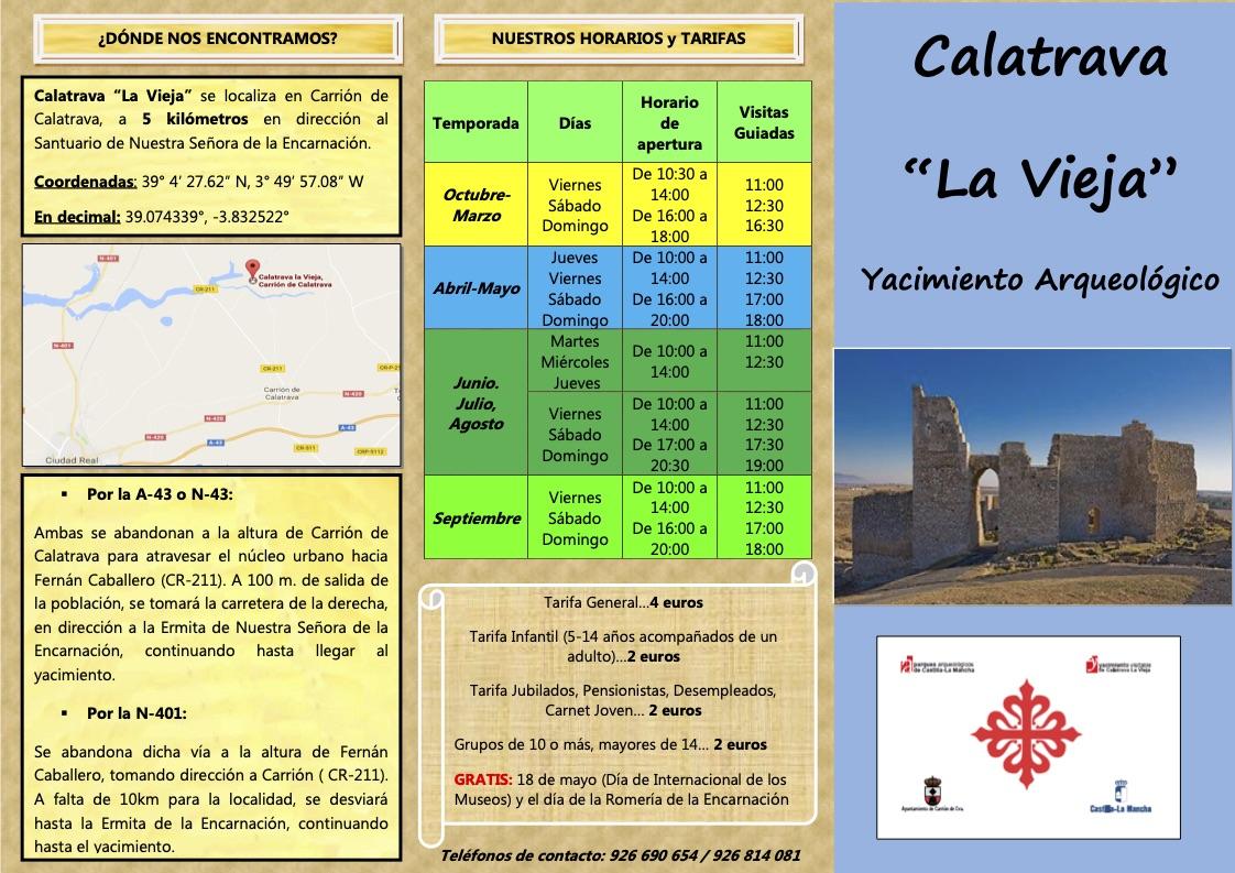 folleto información Calatrava La Vieja